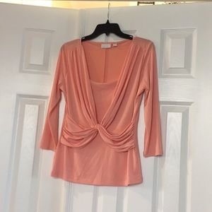 NY and Company pink blouse size small